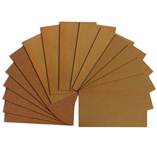 Japanese Sandpaper Mini Set 120/240/400 18 sheets (6 each) for DIY, Cleaning Kitchen and Toilet, Finishing Wood Furniture or Metal -Made in Japan BYR-25 by BIGMAN