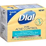 Barra facial y corporal de glicerina para la limpieza profunda y el control del acné Dial
