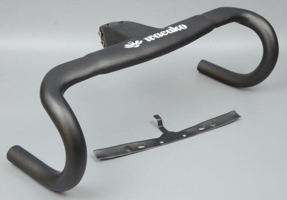 WK-H020 WACAKO正規品 ドロップハンドル ステム一体式 ロードバイク用 カーボンハンドル B07CVCRHJT 100mm|400.0 ミリメートル 100mm