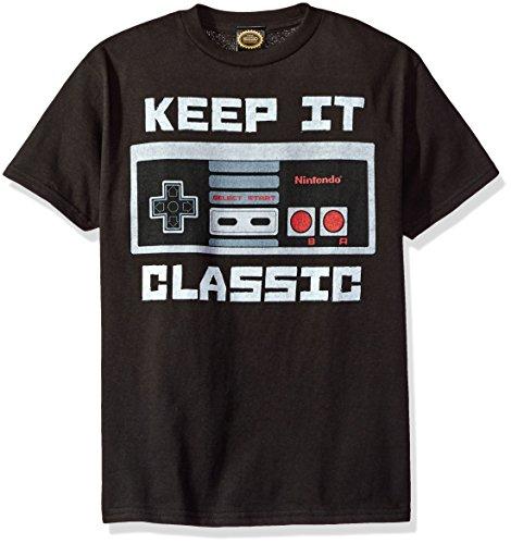 - Nintendo Little Boys Kepp It Classic Controller Graphic T-shirt, black, YM