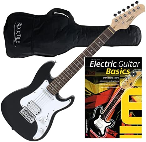 Rocktile Sphere Junior Guitarra eléctrica 3/4 Negro: Amazon.es ...