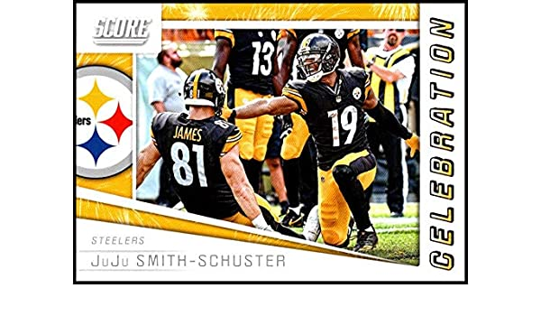0145d68c17d Amazon.com: 2019 Score Celebration #10 JuJu Smith-Schuster NM-MT+ Pittsburgh  Steelers Officially Licensed NFL Football Trading Card: Collectibles & Fine  Art
