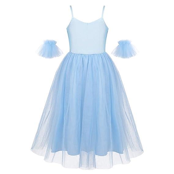 iiniim Vestido Largo en Tutu Ballet Niña Disfraz Bailarina ...