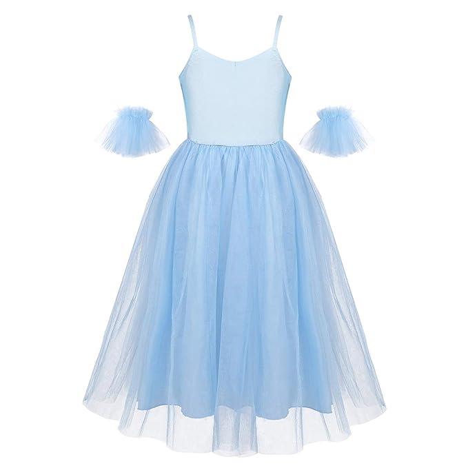 inhzoy Vestido de Danza Ballet para Niña Traje de Bailarina ...