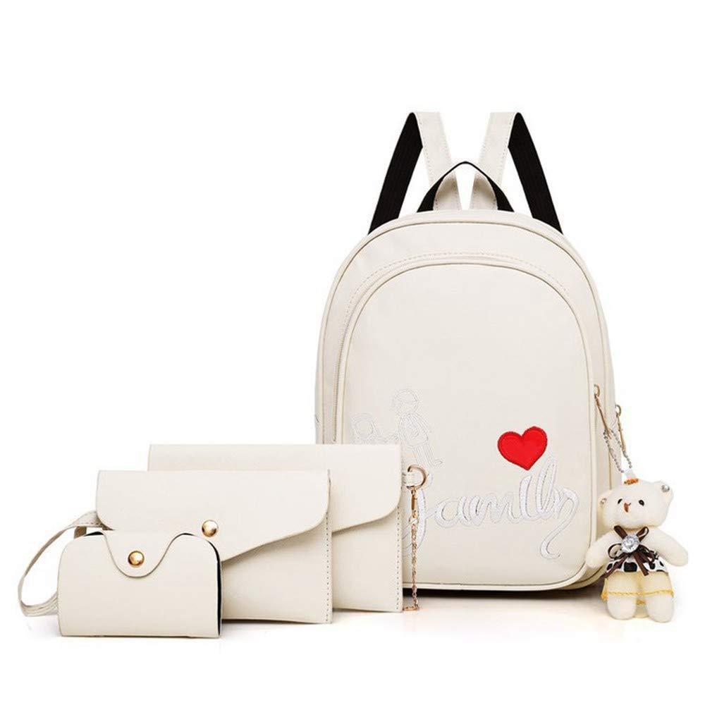 White DYR MotherinLaw Bag Ladies Shoulder Bag Shoulder Bag Handbag Wallet FourPiece Outdoor Travel Bag Chest Bag