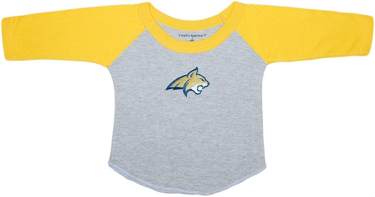 Montana State University Bobcats Baby and Toddler 2-Tone Raglan Baseball Shirt