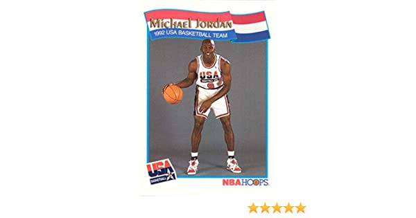 e8f241520f8 Amazon.com: 1991-92 NBA Hoops #55 Michael Jordan Team USA Olympic  Basketball Card: Collectibles & Fine Art