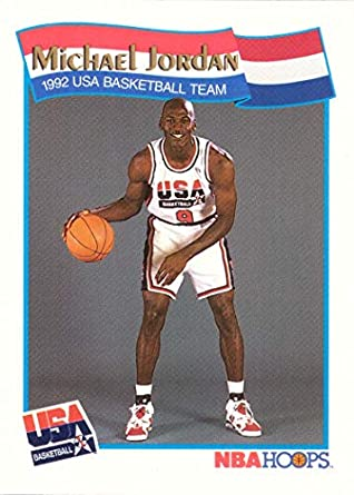 0e28657e936 1991-92 NBA Hoops #55 Michael Jordan Team USA Olympic Basketball Card