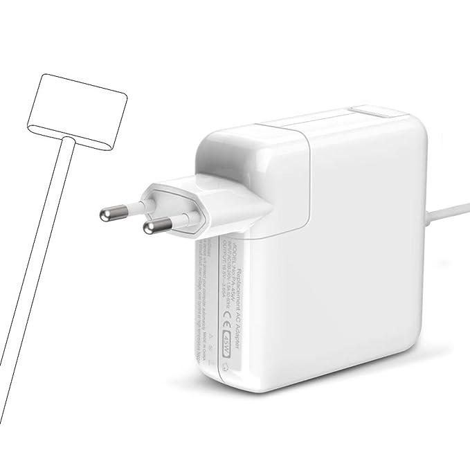 Cargador Mac Book Air 45W, Magsafe2 Adaptador corriente Forma de T Cargador Compatible for MacBook MacBook Pro 11 y 13 pulgadas para A1435 A1436 A1465 ...