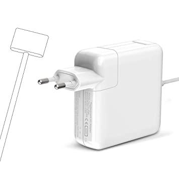 Cargador Mac Book Air 45W, Magsafe2 Adaptador corriente Forma de T Cargador Compatible for MacBook MacBook Pro 11 y 13 pulgadas para A1435 A1436 A1465 ...