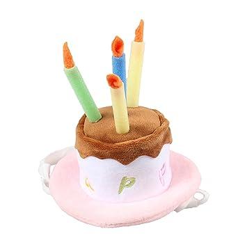 Amosfun Sombrero Ajustable del cumpleaños de la Vela de la ...