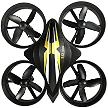 Lanlan Mini RC-Helicopter Quadcopter Headless Drone Aircraft Toys as Xmas Gifts black
