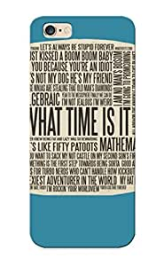 XWjHkJq2384SpfaM New Iphone 6 Plus Case Cover Casing(adventure Time Typography )/ Appearance