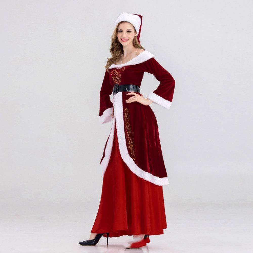 Shisky Abbigliamento Natalizio, Natale Vestiti Femmina Adulto Sexy Nightclub Costume-Principessa Gonna Abito Maniche Lunghe di Natale