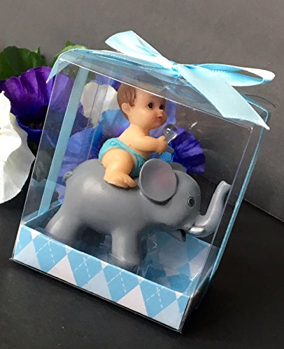1 Pc Baby Shower Favors Party Decoration Its A Baby Boy Blue Elephant Keepsake by L&R Digital ()