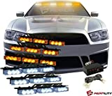 emergency auto light - 54 LED Amber (Yellow) & White Emergency Warning Flash Strobe Lights Tow Car Truck