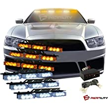 54 LED Amber (Yellow) & White Emergency Warning Flash Strobe Lights Tow Car Truck