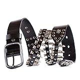 Search : Bullets Belt Black Leather Punk Studded Belt
