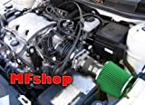grand am cold air intake - 1999 2000 2001 2002 2003 2004 2005 Pontiac Grand AM 3.4L V6 GT GT1 SE1 SE2 Air Intake Filter Kit System (Black Accessories with Green Filter)