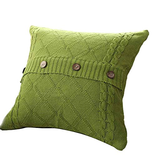heigudan Fashion Knitted Button Decor Cable Knitting Patterns Throw Pillow Cases Cushion Shell Cafe Sofa Home Decor 18