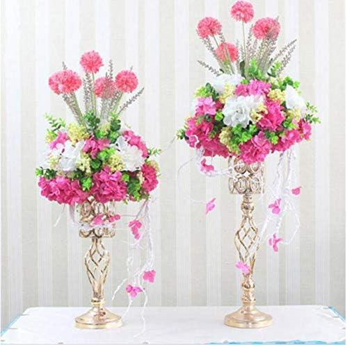Decoración de Mesa Top Boda Borgoña Flores Arreglo De Anillo De Vela De Pedestal