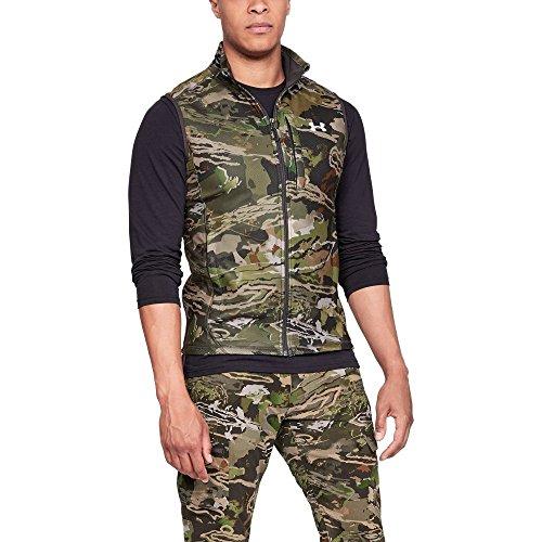 (Under Armour Men's Zephyr Fleece Camo Vest, Ua Forest Camo (940)/White, X-Large)