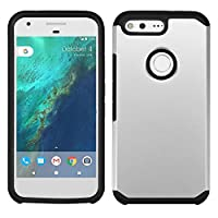 Asmyna Cell Phone Case for Google Pixel XL - Silver/Black