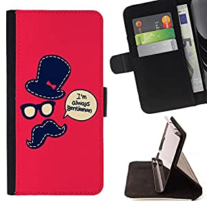 Jordan Colourful Shop - FOR Samsung Galaxy Note 3 III - I am gentlemen - Leather Case Absorci¨®n cubierta de la caja de alto impacto