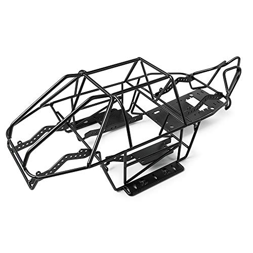 (1/10 RC Truck Steel Frame Body Roll Cage Receiver Box for Axial SCX10 II)