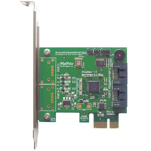 High Point RocketRAID 620 2 SATA Port PCI-Express 2.0 x1 SATA 6Gb/s RAID Controller