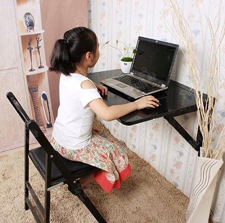 Due Supporti,Nero Senza Sedia FWT05-SCH SoBuy/® Tavolo da Muro Pieghevole in Legno 75 * 60cm