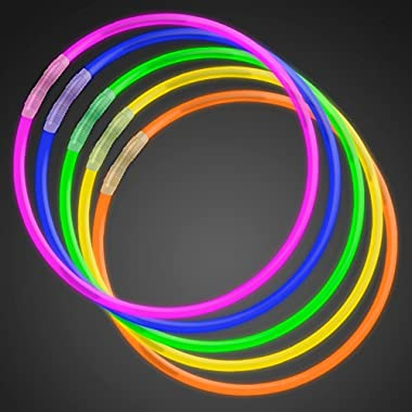 50 22  Premium Glow Stick Necklaces Assorted Colors Glowsticks