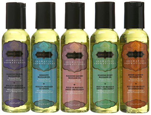 Kama Sutra Massage Oils (2 Oz) 59 ml Set of Five
