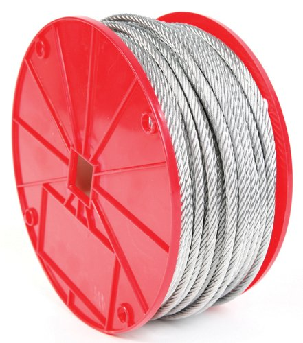 Koch 003212 Cable, 7 by 19 Construction, Trade Size 1/4 by 250 Feet, Galvanized Finish