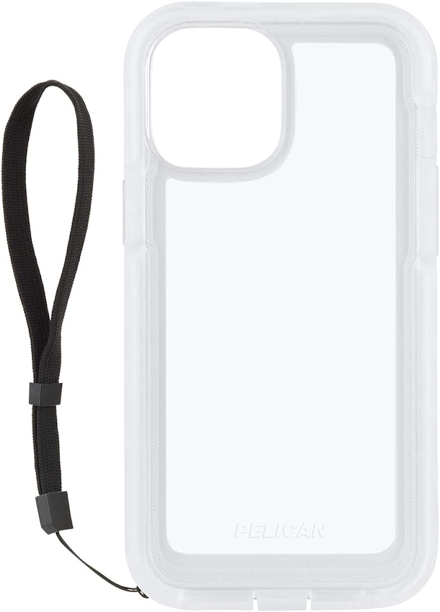 Pelican - Marine Active Series - Case for iPhone 12 Pro Max (5G) - 18 ft Drop Protection - Lanyard Strap - 6.7 Inch - Clear