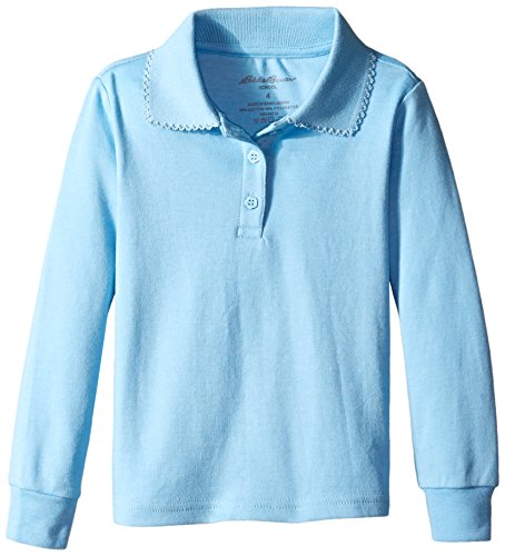 Eddie Bauer Girls' Polo Shirt (More Styles Available), Bright Light Blue, 6 by Eddie Bauer
