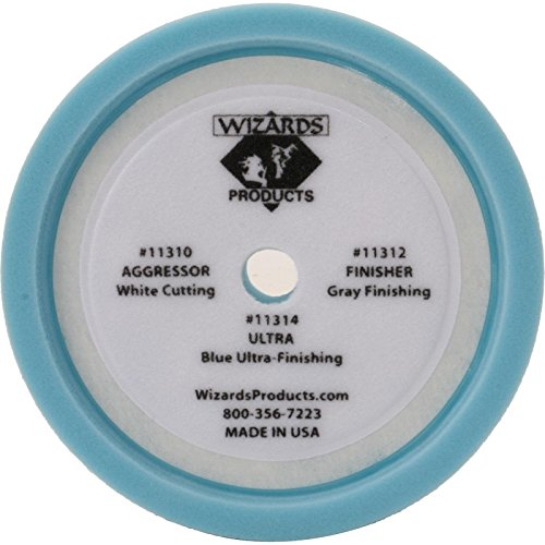 Wizards 11209 Foam Finish 2 Blue Buffing Pad - 8""