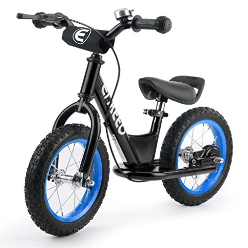 ENKEEO 12 inches Sport Balance Bike No Pedal Control Walking Bicycle Transitional Cycling Training Rubber Tires, Adjustable Seat Upholstered Handlebars Kids Toddlers by ENKEEO