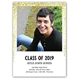 Custom Class Of - Photo Personalized Graduation Announcement - Foil Accents - Minimum Quantity of 50 with white envelopes - 5 x 7, Made in the USA