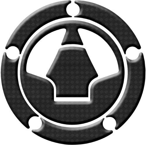 Keiti Additions Gas Cap Protector/Kawasaki - Carbon Fiber - 5 Bolt T3