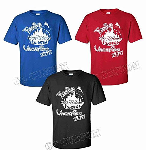 [NEW WALT DISNEY FAMILY VACATION 2017 DESIGN Cute Matching Family Shirts (L Adult, Blue)] (Family Disney Shirts)