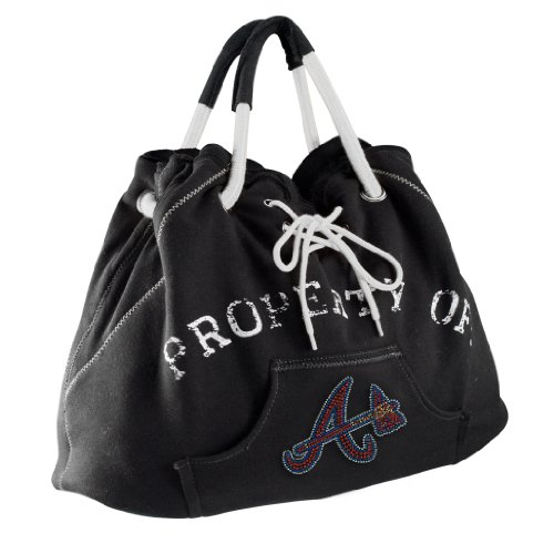 Atlanta Braves Logo Crystal - MLB Atlanta Braves Noir Hoodie Tote