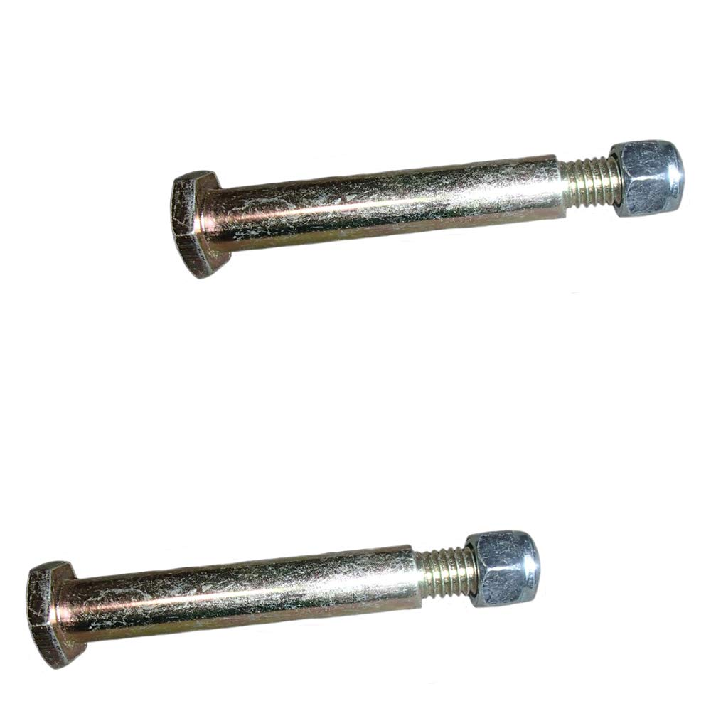 Two 2 11142 Shoulder Bolts with Lock Nuts for Mower Deck Gage Wheels 2-5//8 Shoulder Length Fits 1//2 ID Wheels