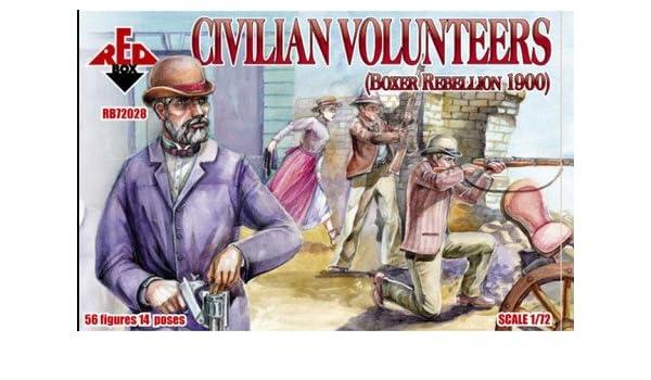 Soldatini 1//72 CIVILIAN VOLUNTEERS RED BOX 72028 BOXER REBELLION 1900
