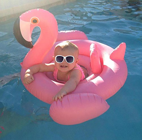 IDEAS Baby Flamingo Inflatable Pool Float - Baby Infant Swimming Toy - Good for Learn (Halloween Playlist Ideas)