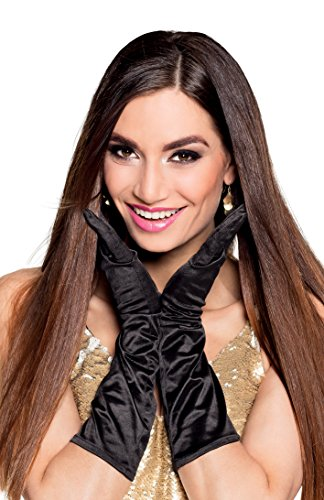 Boland Ladies Monte Carlo Black Gloves Adult Fancy Driving Gloves 30s Dress Classic Party Costume -