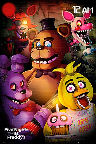 Póster Five Nights at Freddys, personajes