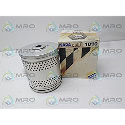 """1010 NAPA Oil Filter Metal Canister Lube Cartridge Filter 4.375""""; .553""""; 3.718"""": Automotive"""