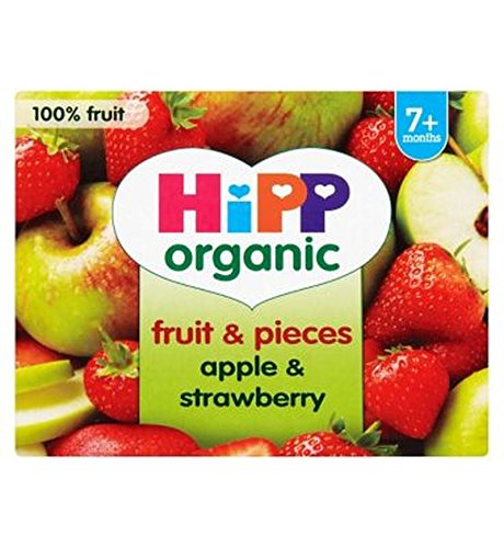 Hipp Organic Fruit & Pieces Apple & Strawberry 7+ Months 4 X 100G