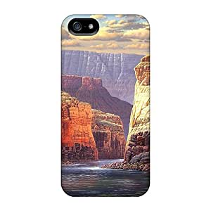 Premium Durable Sunlit Canyon Fashion Tpu Iphone 5/5s Protective Case Cover